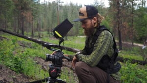 Oly Mingo filming the Wildfire Project. Photo provided.