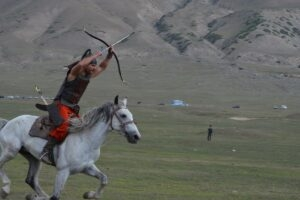 Archery on horseback will be one of the competitive events