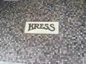 The restored Kress logo at Performance Footwear in Wenatchee