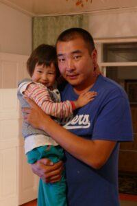 Kuban Zholdoshbek with his niece