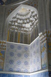 Stunning architecture in a Uzbekistan mosque