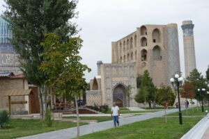 An ancient ruin of a mosque in Samarkand on the Silk Road