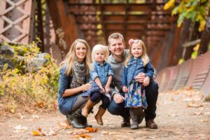 Kristin and David Lodge and their daughters Annabelle, 5, and Charlotte, 3