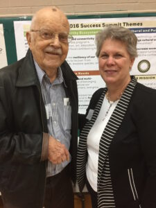 Wilf Woods of The World with Harriet Weber of the Quincy Museum